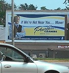 Peerless Cleaner's billboard