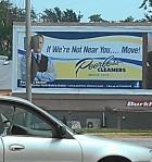 Peerless Cleaner's billboard