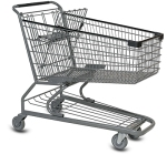 Wire Shopping Cart 180L 45 degree_medium